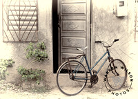 bicycle near open door