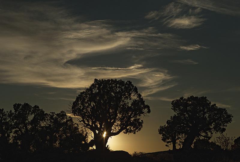 Sunset over Moab, Utah